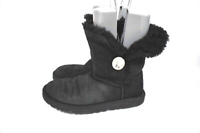 644b8df4ba6 UGG AUSTRALIA WOMEN'S 3349 Bailey Button Bling Boots Black Size 8M ...