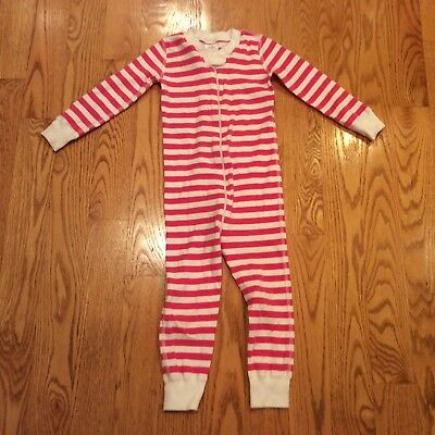 Hanna Andersson 3T (90) Girls Lg, Sl. One-Piece Pajamas Pink & White Striped