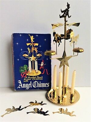 Vintage Brass Two-In-One Angel – Party Chimes Sweden in Original Box