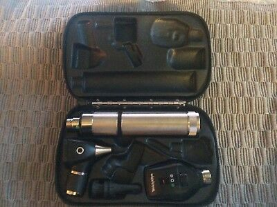 WELCH ALLYN Set 71050-C Rechargeable Handle Otoscope Ophthalmoscope  NO Battery