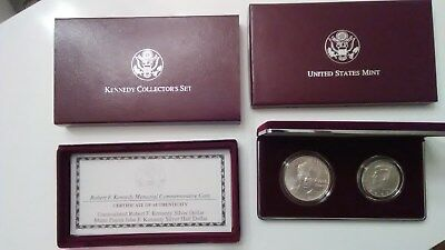 1998 Kennedy Collectors Set with Box and COA - Unc Dollar & Matte Half, Silver