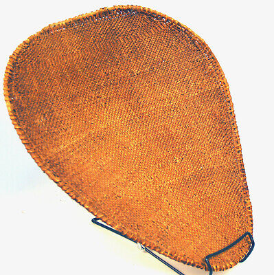 "Antique Washoe Basketry Seed Beater c.1910s 16"" x 14"""