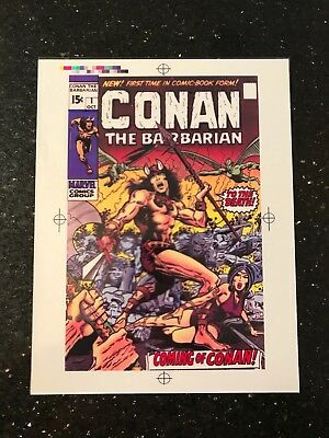 Conan The Barbarian #1 MARVEL Art Transparency Color Grid 1970 COVER *1st CONAN*