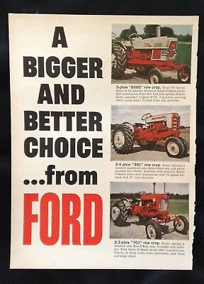 1962 Vintage Agriculture Ad ~ Ford Tractor
