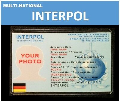 international ID collection...Multi-National Wallet card...<<INTERPOL>>