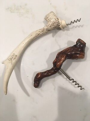 Stag Horn And burl Walnut Corkscrews
