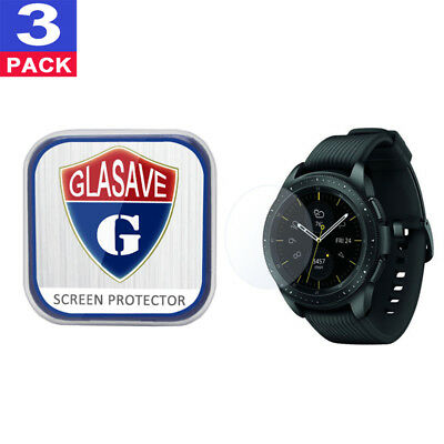 (3Pack) GLASAVE Samsung Galaxy Watch 42mm Tempered Glass Screen Protector Clear