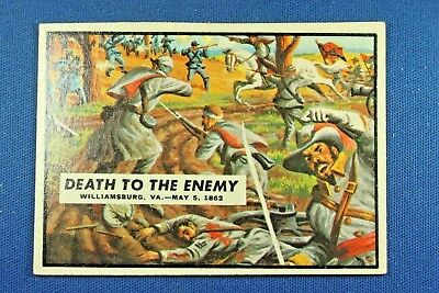 "1962 Topps Civil War News - #18 ""Death To The Enemy"" - VG/Ex Condition"