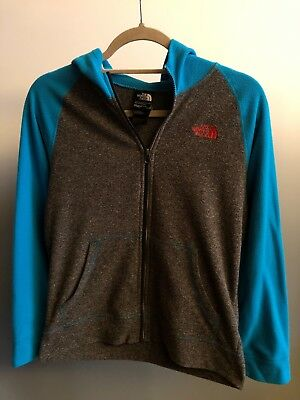 The North Face Blue/Gray Boy's Large 14/16 Full Zip Jacket 100% Polyester
