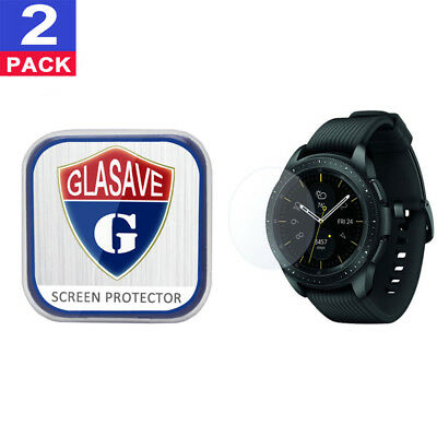 (2Pack) GLASAVE Samsung Galaxy Watch 42mm Tempered Glass Screen Protector Clear
