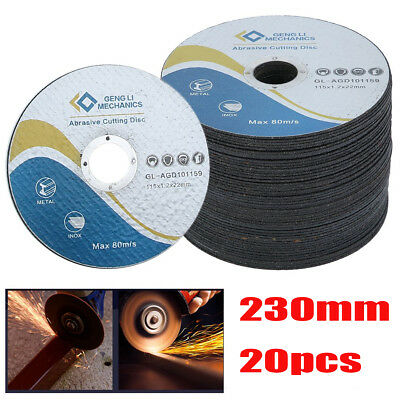 20Pcs 230mmx2.0mmx22.23mm METAL CUTTING / SLITTING DISCS  ultra thin Metal Steel