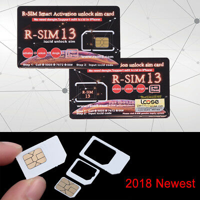 Activation RSIM Sup Sim Chip R-SIM 13 Unlock Card For iPhone XS MAX XR ios11 12