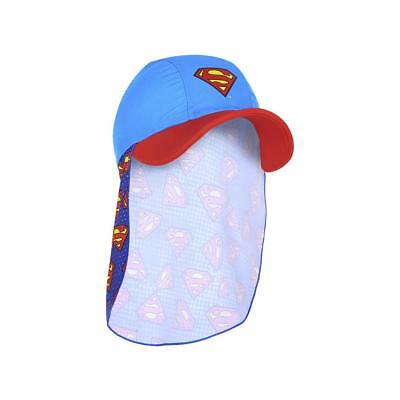 Zoggs Kids Superman Sun Hat in Blue and Red with Superman Print