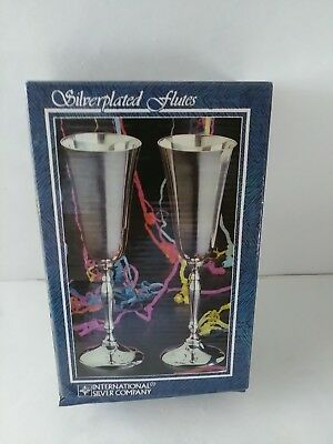 International Silver Company Silverplated Flutes Pair.  Brand New!!