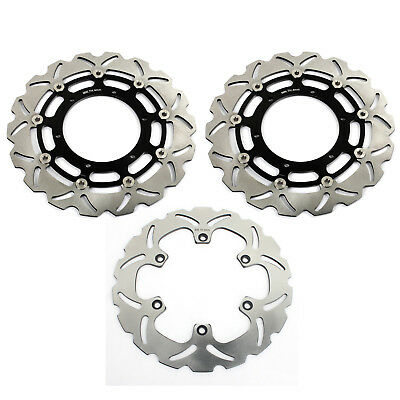 Front and Rear Brake Discs Rotors set for Yamaha MT01 MT-01 1670 2005 2006 Black
