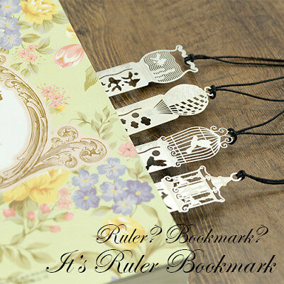 3 in 1 Chinese Japanese Style Cute Fine Exquisite Premium Metal Ruler Bookmark