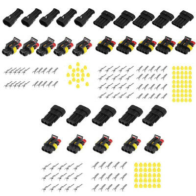 15 Kits 2 3 4 Pins Way Sealed Waterproof Electrical Wire Connector Plug Terminal