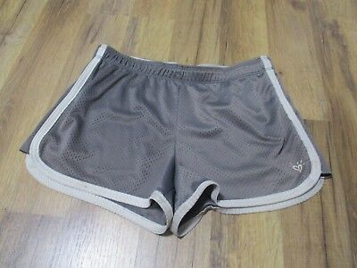 Justice Girls Gray Active Shorts size 18 Playwear Condition