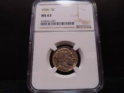 1926 MS63 Buffalo Nickel NGC Certified - Toned in a Light Gold/Rose Hues