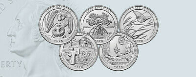 2017 5 P Quarters National Park America the Beautiful Set P ATB~ 5 UNC 2nd's