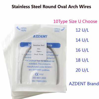 US Dental Orthodontic Arch Wire Oval Form Stainless Steel (Round) AZDENT