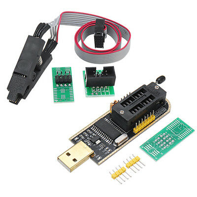 CH341A 24 25 Series EEPROM Flash BIOS USB Programmer + SOIC8 SOP8 Clip Adapter