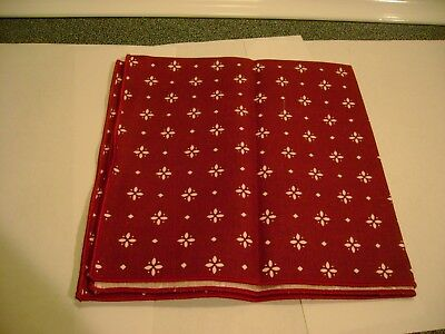Longaberger TRADITIONAL RED Napkin SINGLE New