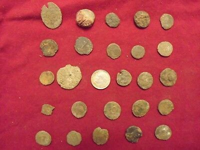 LOT OF 25 ANCIENT BRONZE ROMAN COINS Uncleaned Mid-Low Grade WWII North Africa 6