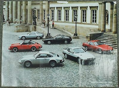 Magazine Porsche 924 Turbo 911 SC 928 Car Collage 1979 Double Sided Photo Poster