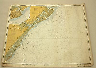 Atlantic City New Jersey Shore #1217 Vintage Sailing Map C&GS Nautical Chart