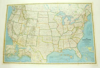 National Geographic United States Portrait USA 1976 Double-Sided Vintage Map