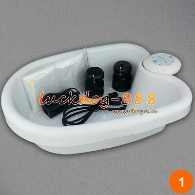 Ion Ionic Detox Foot Bath Spa Machine W/Tub Array Cell Cleanse Health with Liner