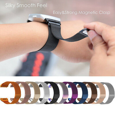 S/L For Fitbit Ionic Replacement 316L Milanese Magnetic Loop Bracelet Wrist Band