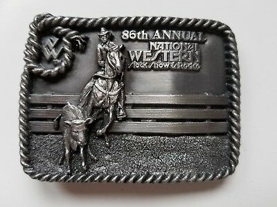 86th Annual NATIONAL WESTERN STOCK SHOW & RODEO BUCKLE - 1992
