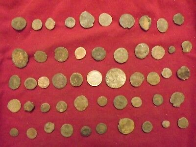 LOT OF 50 ANCIENT BRONZE ROMAN COINS Uncleaned Mid-Low Grade WWII Nort Africa 14