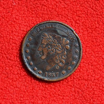 1837 Hard Times Token - Millions For Defence, Not One Cent For Tribute