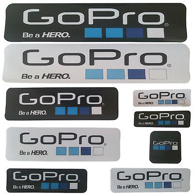 9x 6x Gopro Hero 4 3+ Go Pro Accessories Car Motorcycle Be a HERO Stickers Decal