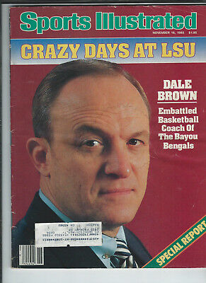 November 18 1985 vintage issue of Sports Illustrated Dale Brown cover