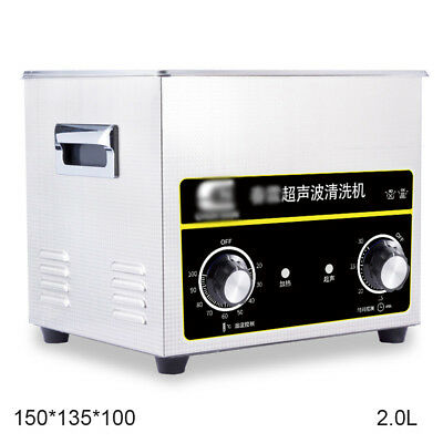 Ultrasonic Cleaner with Stainless Steel Tank, Heater/Timer, 2L Gallon Tank 40kHz