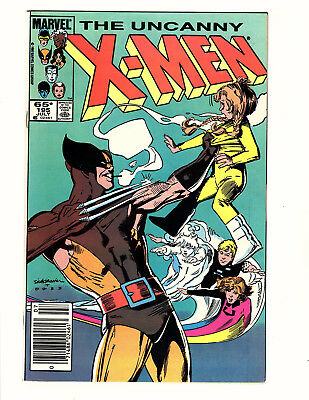 The Uncanny X-Men #195 (1985 Marvel) VF Wolverine Power Pack Sienkiewicz Cover