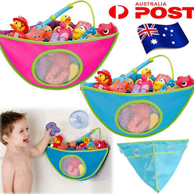 Kids Baby Peli Play Pouch Baby Bath Toy Tidy Organiser Net Mesh Storage Bag AU