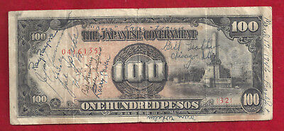 Short Snorter Philippines 100 Pesos Note, 19 Signatures