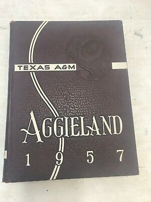 1957 Aggieland Yearbook Texas A & M University College Station Paul Bear Bryant