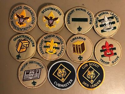 Boy Scout Position Patches BSA Scoutmaster Cubmaster Senior Patrol Leader