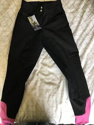 Harry's Horse Black Ladies Breeches Sz 36 BNWT