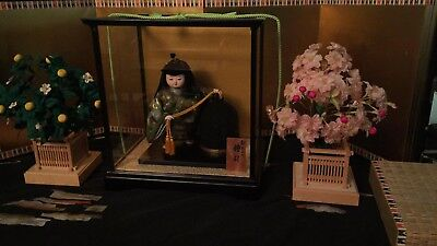 ANTIQUE JAPANESE HINA Doll with Fortune Bell