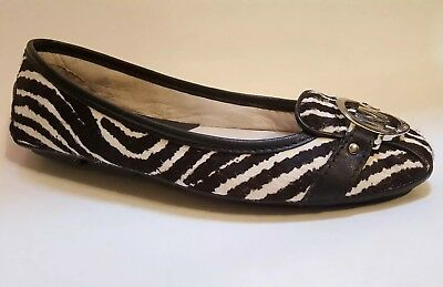 1e1a92040a78 Michael Kors Black White Genuine Calf Hair Flat Loafer Special US 8 New $120