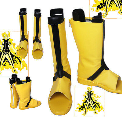 Original Naruto Uzumaki Naruto Cosplay Shoes Yellow Boots Halloween accessories