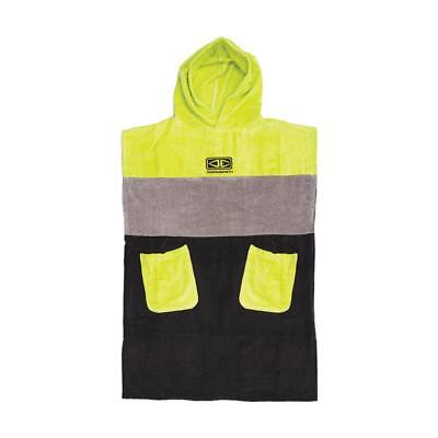 Youth Dusk Hooded Surf Poncho - Lime From Ocean & Earth