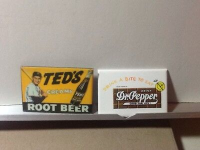 Advertising Pocket Mirror Dr. Pepper Ted's Root Beer